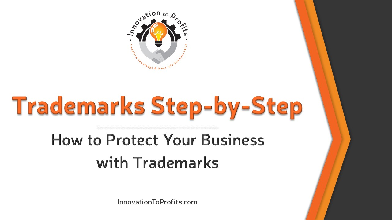 Trademark Step by Step Video Course Presentation COVER PAGE